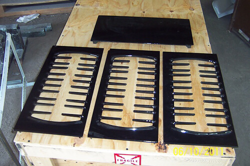 stove grates with new porcelain enamel