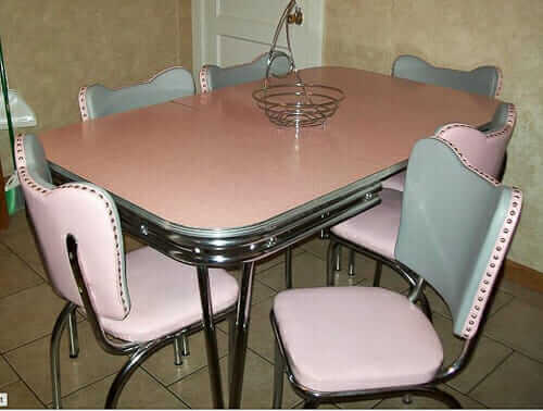 reupholster 1950s dinette chairs affordably retro renovation. Black Bedroom Furniture Sets. Home Design Ideas