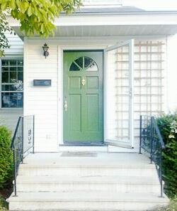 Kate's green front door