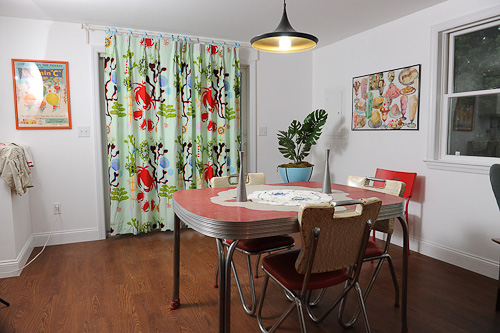 1950s dinette in retro cottage