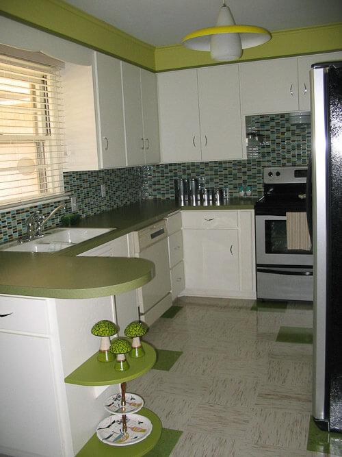 azrock cortina in retro kitchen