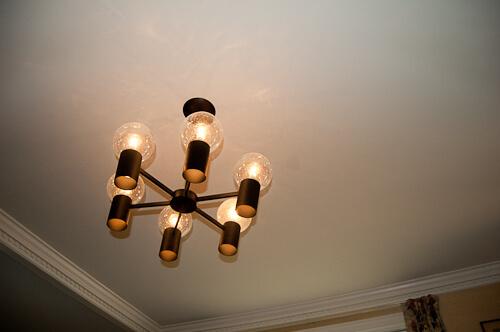 repainted dining room ceiling