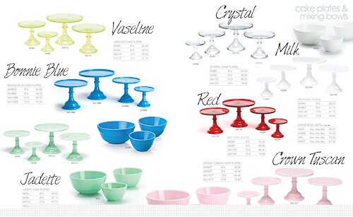mosser glass made in america cake stands and bowls