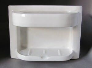 recessed ceramic soap dish