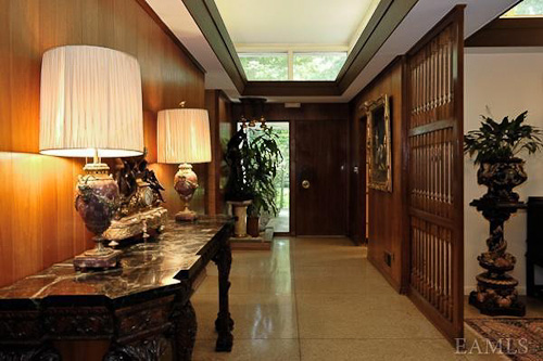 Mid Century Modern Foyer : Midcentury modern meets french provincial in this perfect