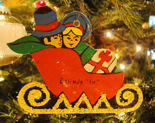 1970s christmas ornament
