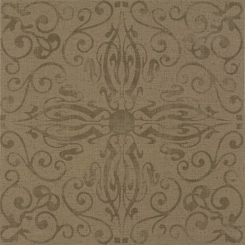 Vintage retro vinyl linoleum flooring for Vinyl tile over linoleum
