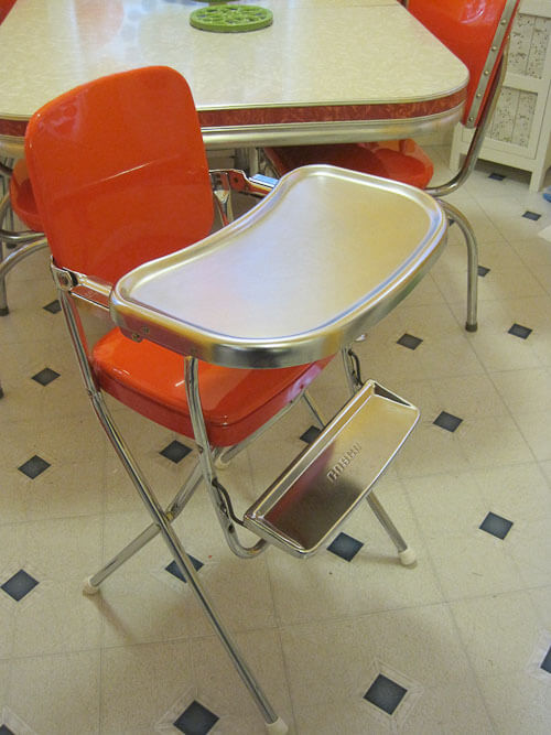 vintage cosco high chair reupholstered