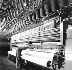 Carpet manufacturing tufting machine - Shaw Floors historic photo