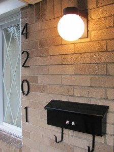 retro house numbers