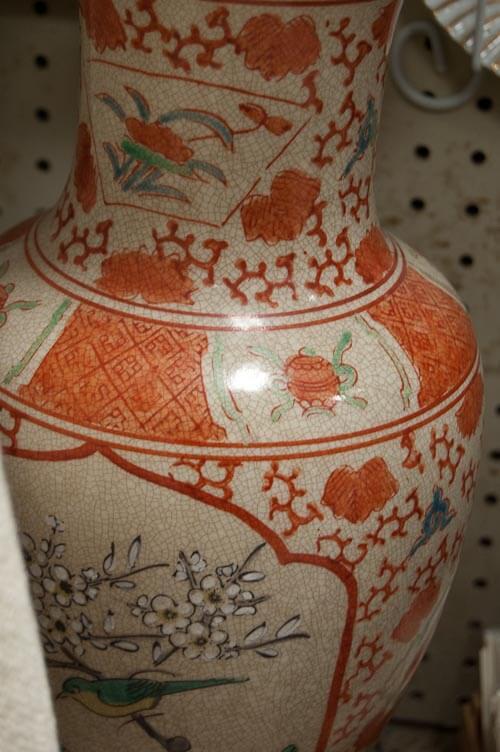 vintage oriental lamp orange