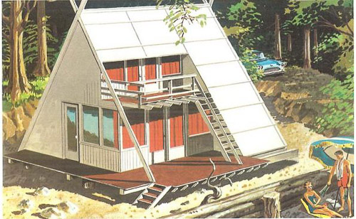 A frame house style
