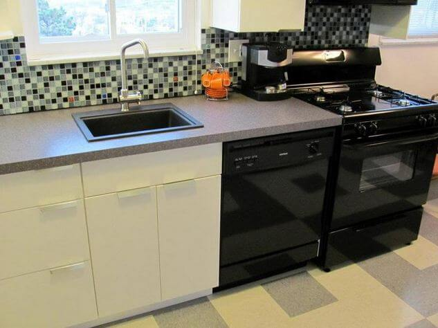 ikea counter tops. a gray and white kitchen makeover using ikea