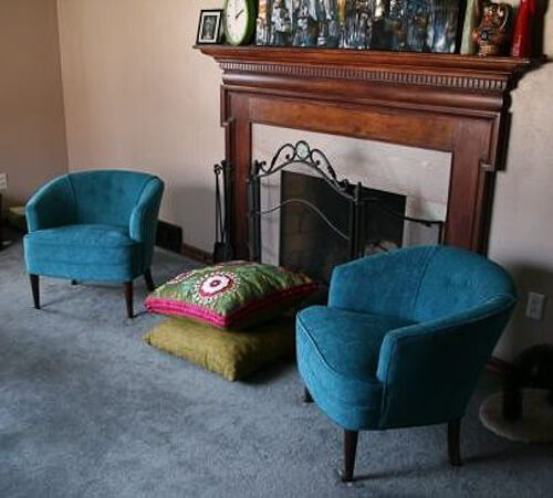 teal chairs
