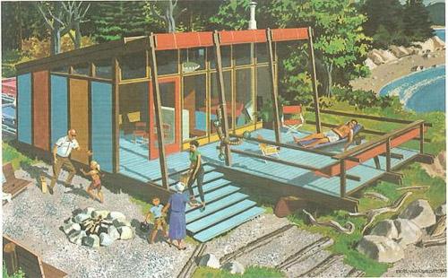 Three stage beach cabin