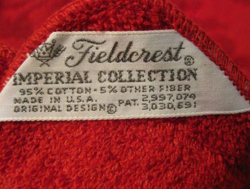 vintage fieldcrest bath towels