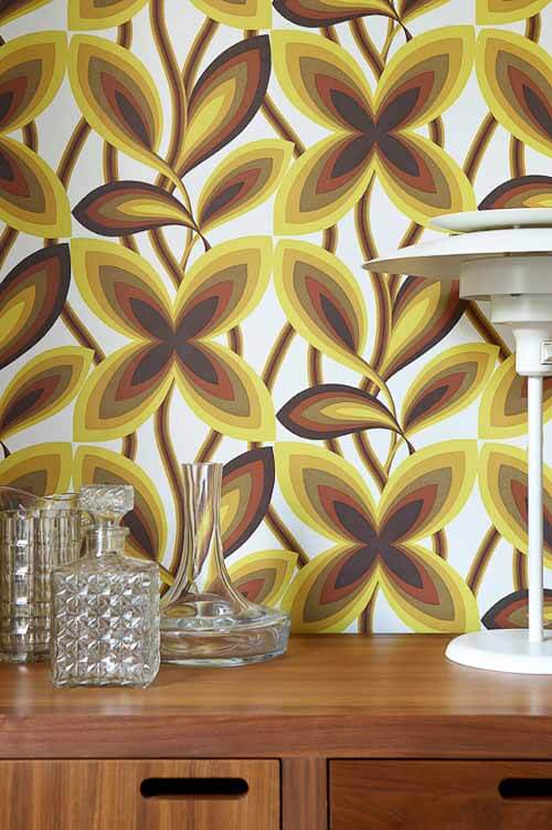 Retro Wallpaper From Original 1960s And 1970s Designs