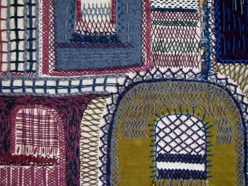 vintage textile art 1960s