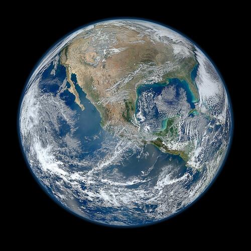 blue marble earth