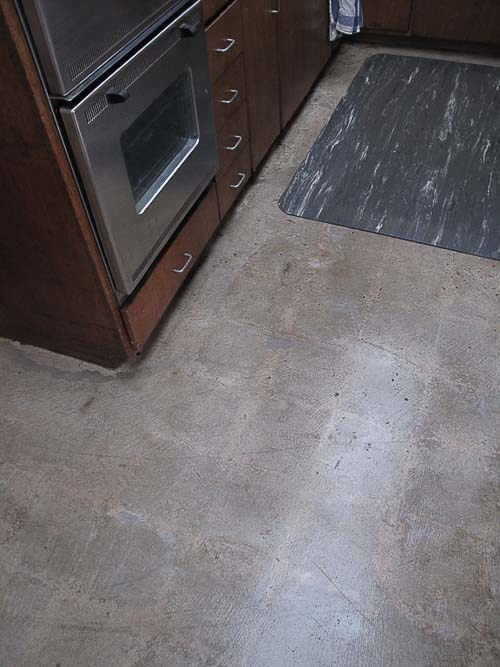 Comconcrete Kitchen Floor : concrete cleaned, sanded, and finished so I now have concrete floors ...