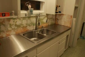 DIY stainless steel countertop