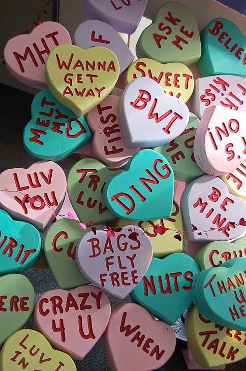 valentine heart candy sculpture