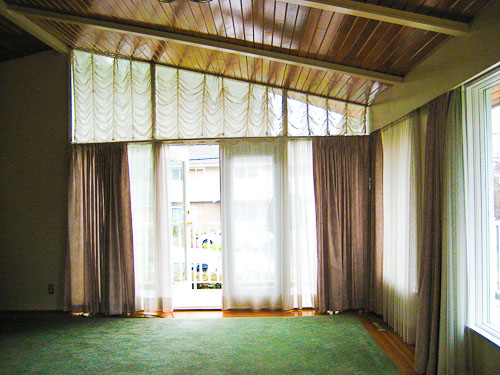 window treatments for a wall of windows