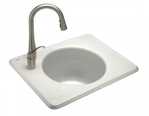 The Kohler Tandem laundry sink is contemporary and cute as a button ...