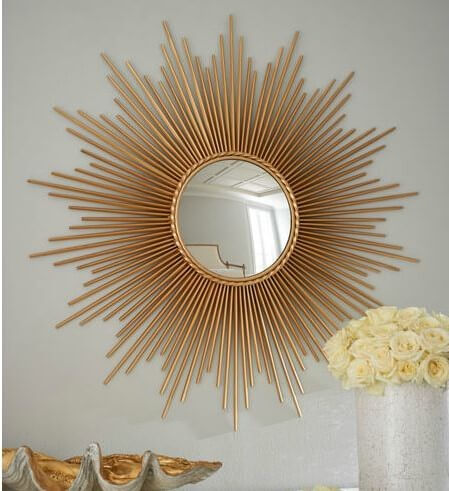 thin sunray mirror horchows