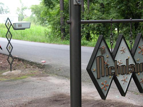 DIY address sign