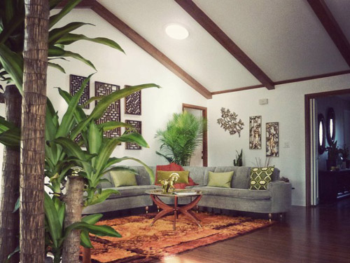Retro Tiki inspired living room
