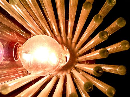 glass rod light fixture