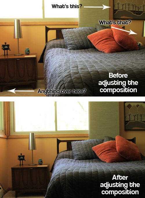 adjusting the composition of a photo