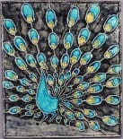 Knabstrup Denmark peacock wall tile
