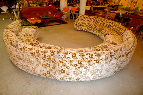 round sofa sectional 1960s vintage by milo baughman for thayer coggin