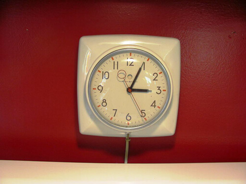 vintage telechron clock