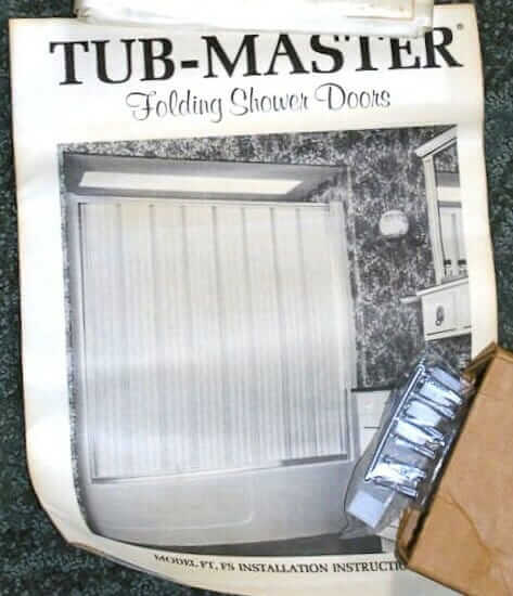 tub master folding shower door