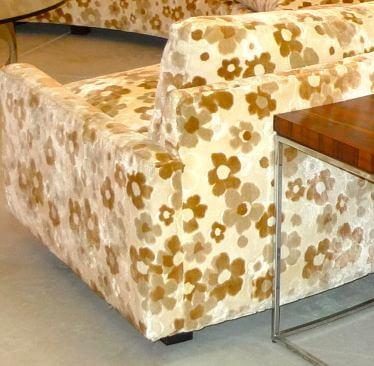 flower power upholstery on milo baughman for thayer coggin sectional