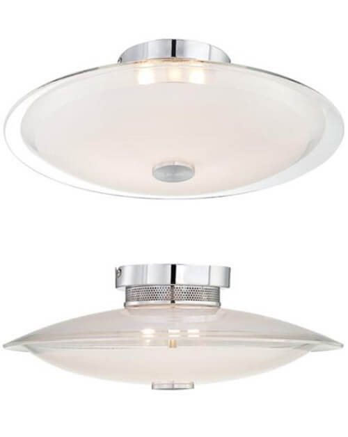 above possini glass disk 15 wide round ceiling light on sale for 4995 from lamps plus this model reminded me of the retro ufo style lights from the bathroom lights mid century