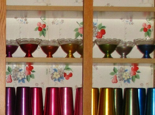 anodized aluminum tumblers and dessert cups