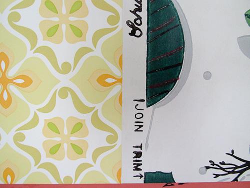 selvedge edges of wallpaper