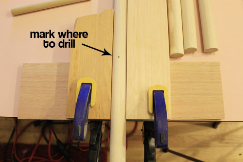 step 2 mark where to drill
