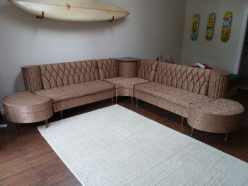 midcentury sofa couch sectional Just Peachy, Darling