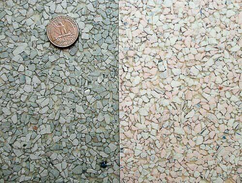 Linen And Terrazzo look Vinyl Sheet Flooring In Aqua