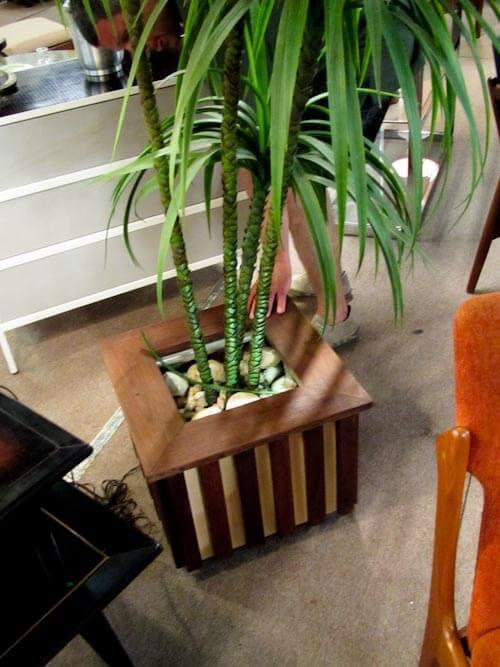 midcentury modern planter