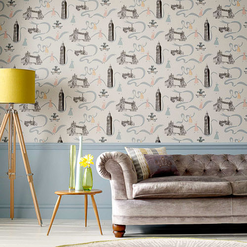 retro london design love 11 vintage style wallpapers from