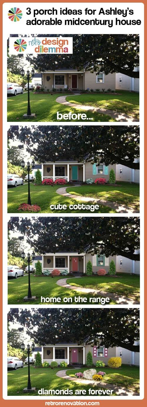 3 porch ideas for Ashley's adorable midcentury house