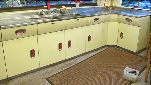vintage 1956 English Rose kitchen  including REVO oven  Retro