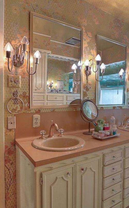 glass lever faucet handle bathroom