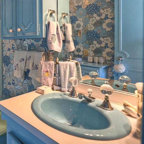 vintage bathroom faucet glass handles